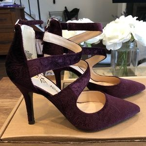 Anne Klein Purple Heels (brand new) Size 5.5
